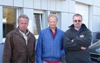 2008: 25jährige Mitarbeit: Urschitz Adolf, 20jährige Mitarbeit: Kollmann Josef und Kaltschitz Roland (von links)